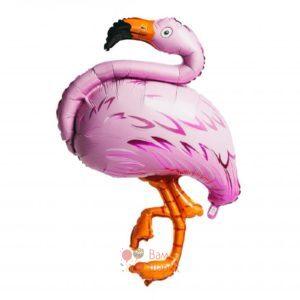 Фольгированная фигура фламинго