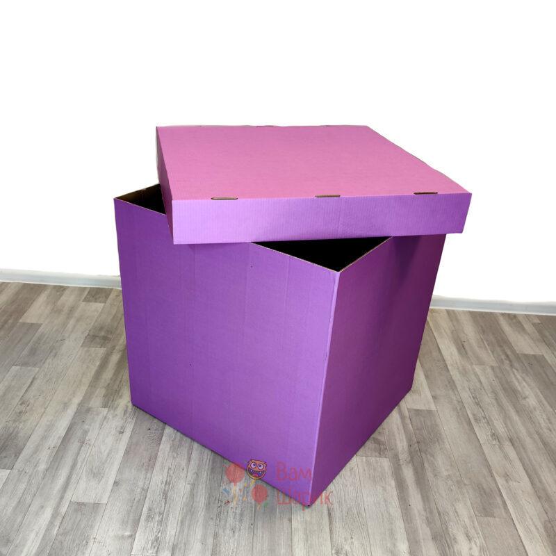 Коробка фуксия для шаров 70*70*70