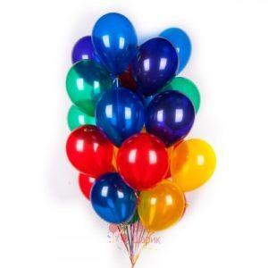 Воздушные разноцветные шары кристалл