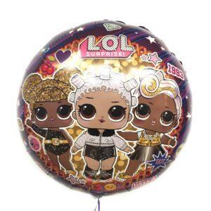 Фольгированный круглый шар Куклы ЛОЛ (LOL), Гламурные подружки