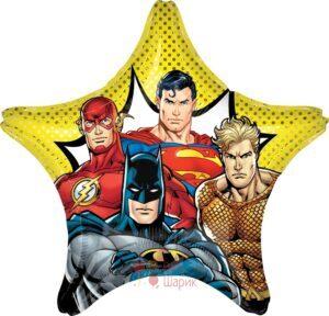 Фольгированная звезда Лига Справедливости