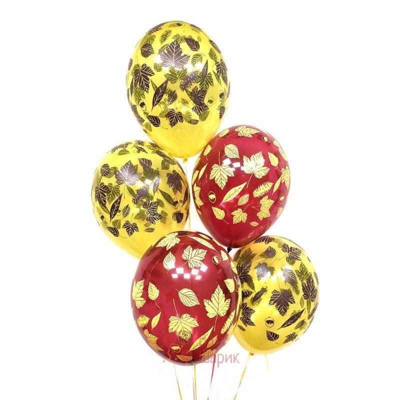 Желтые и красные шары на 1 сентября