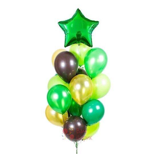 Композиция на 23 февраля с зеленой звездой