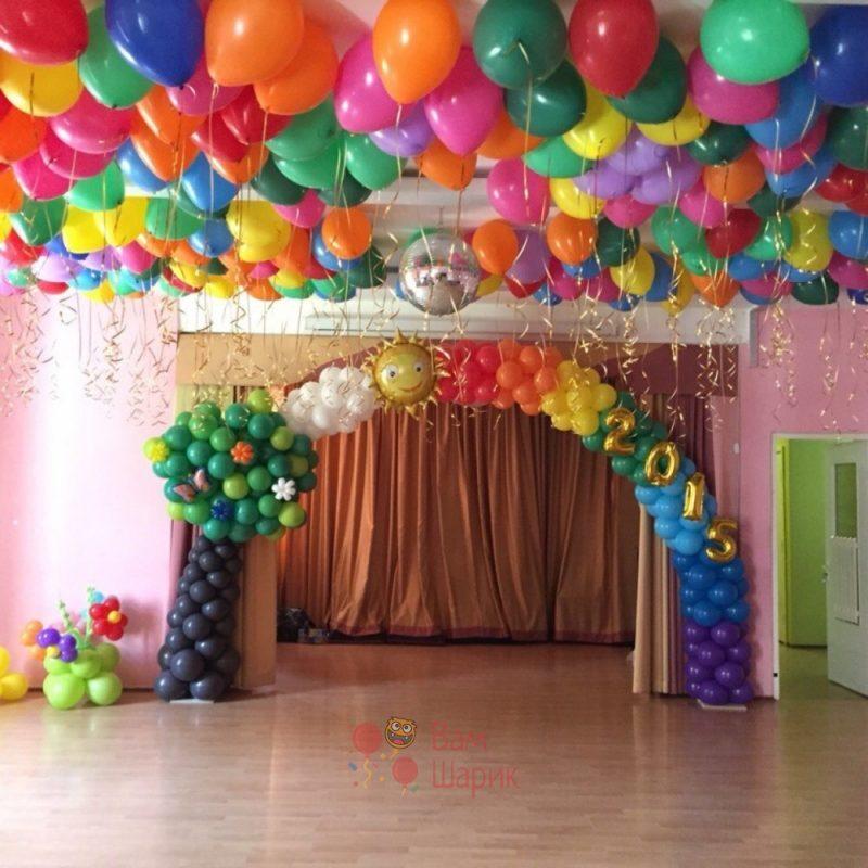 """Оформление детского сада арка из шаров """"Ясная поляна"""""""