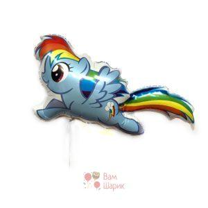 Фольгированная фигура My little pony Радуга Дэш