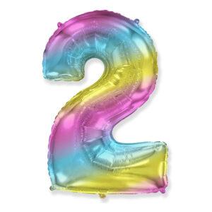 Шар цифра 1 разноцветная