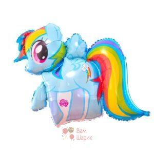 Фольгированная фигура Радужный пони