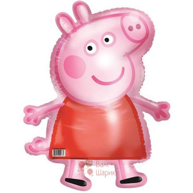 Ходячая фольгированная фигура Свинка Пепа