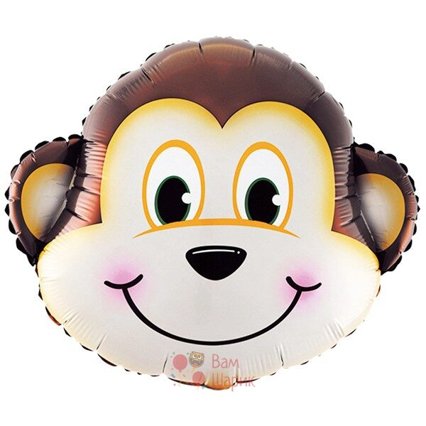Фольгированная фигура голова мартышки