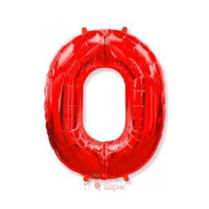 Шар цифра 0 красная