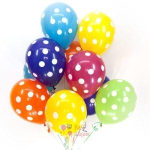 Воздушные разноцветные шары в точку