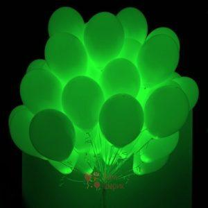 Светящиеся шары с зелеными светодиодами
