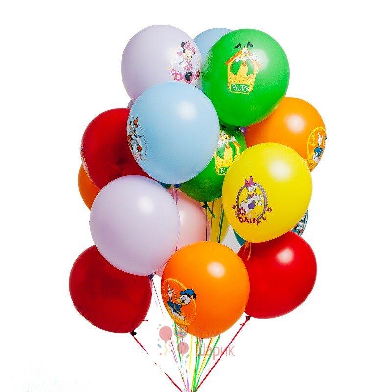 Облако разноцветных шаров Микки и друзья