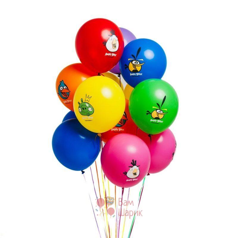 Облако разноцветных шаров Angry Birds