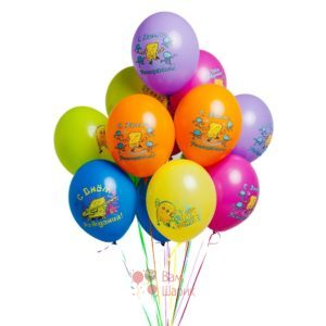 Облако разноцветных шаров Губка Боб