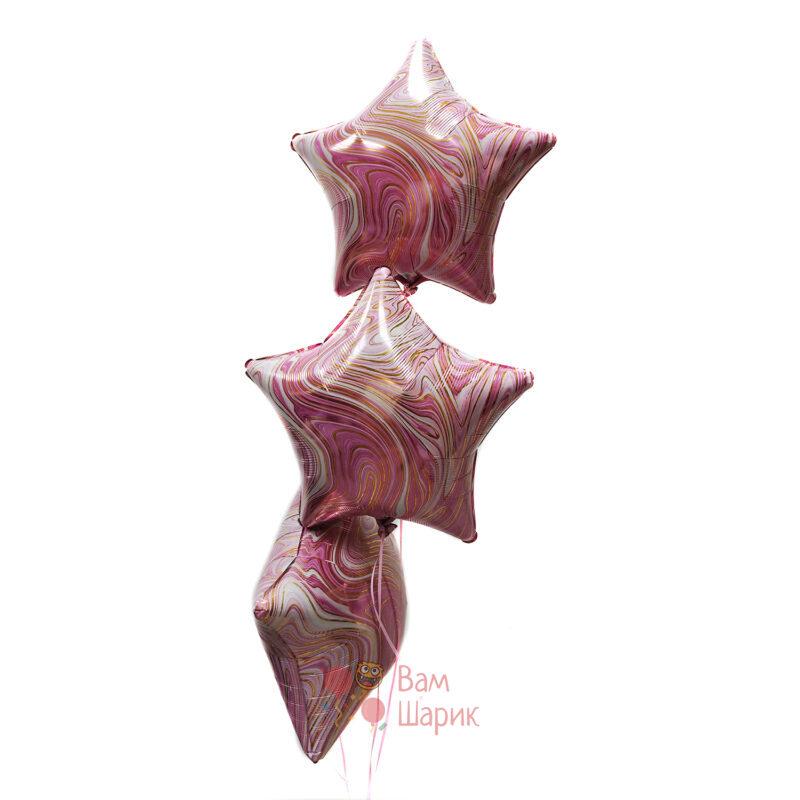 Звезды розовые агаты